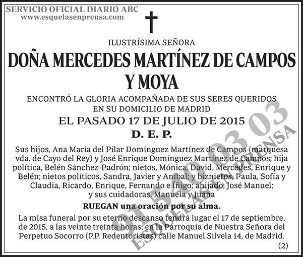 Mercedes Martínez de Campos y Moya